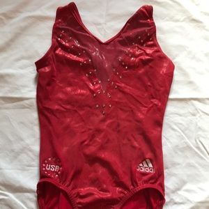 Team USA 2008 Olympic Adidas GK Gymnastics Leotard